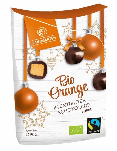 Landgarten Bio FT Orange in Zartbitterschokolade 90g