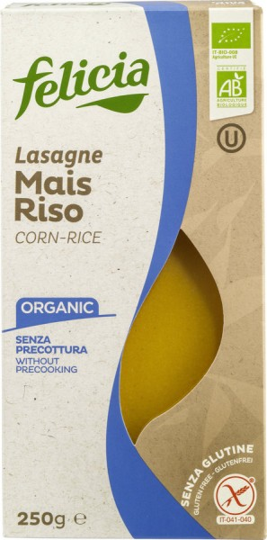 Felicia Felicia Bio Mais-Reis Lasagne glutenfrei 250g