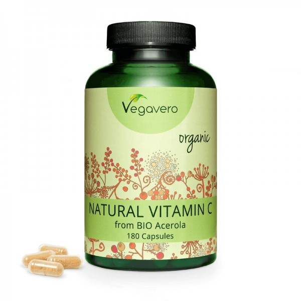 Vegavero Natürliches VITAMIN C, 180 Kapseln