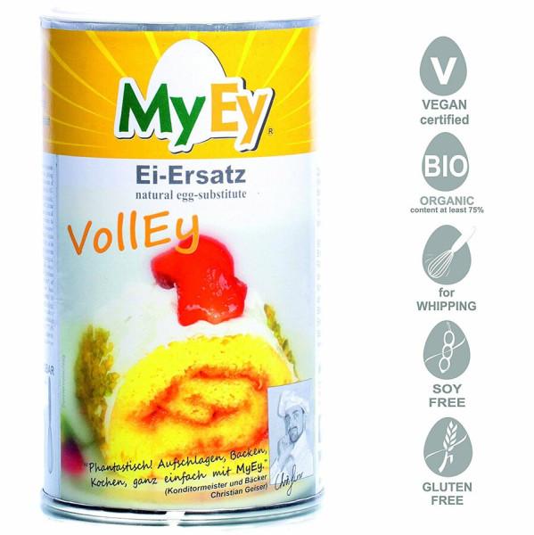 MyEy VollEy Ei-Ersatz für Hühner-Ei, rein pflanzlich & voll aufschlagbar