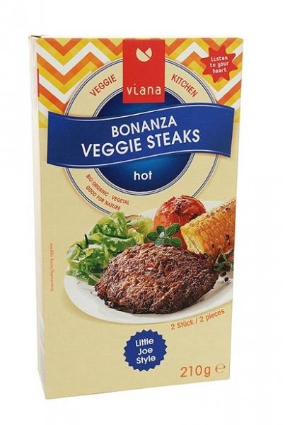 Viana Bonanza Veggie Steaks, 210 g