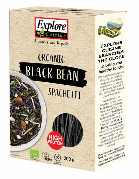 Explore Cuisine Spaghetti aus schwarzen Bohnen