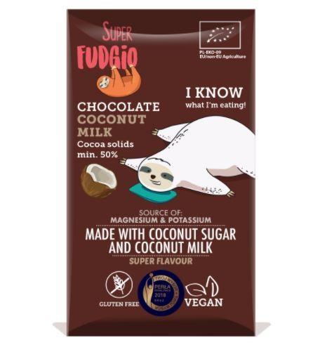 Super Fudgio Kokosmilch Schokolade, 80g