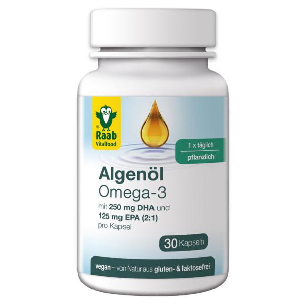 Raab Vitalfood Algenöl Omega-3 Kapseln