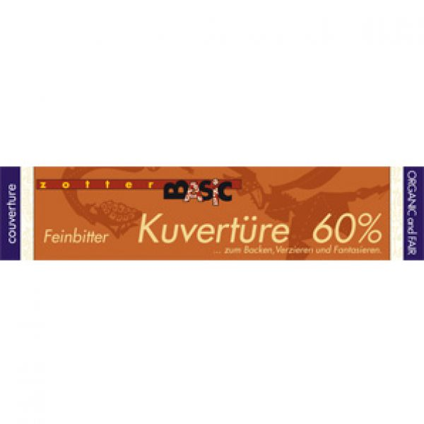 Zotter BASIC Kuvertüre 60%, 130 g