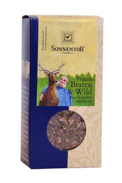 Sonnentor Franzls Braten- und Wildgewürz bio Packung