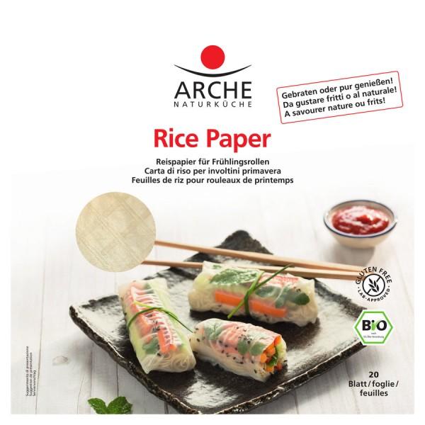 Arche Naturküche Rice Paper, Reispapier, glutenfrei