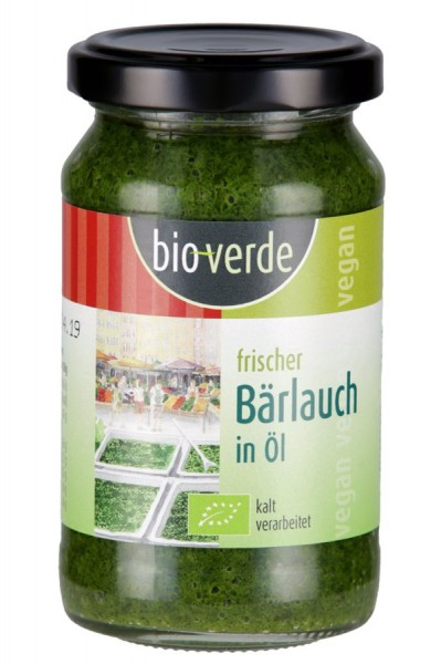 bio-verde Frischer Bärlauch in Öl vegan