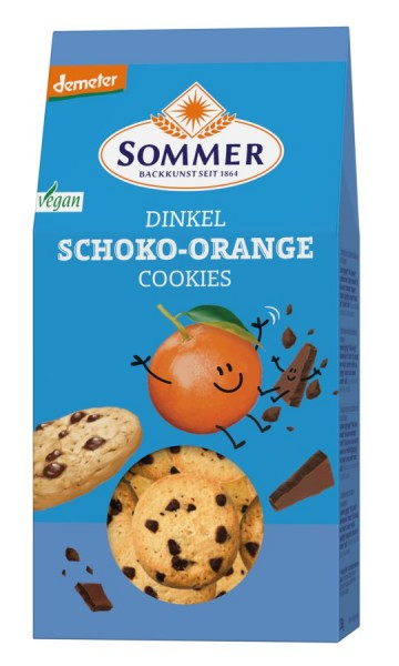 Sommer & Co. Demeter Dinkel Schoko-Orange Cookies, vegan