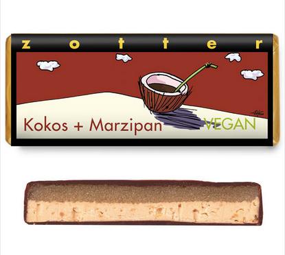Zotter Marzipan Kokos-Nougat, 70g