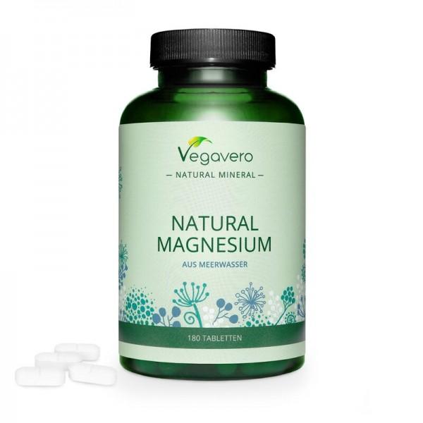 Vegavero Natürliches MAGNESIUM, 180 Tabletten