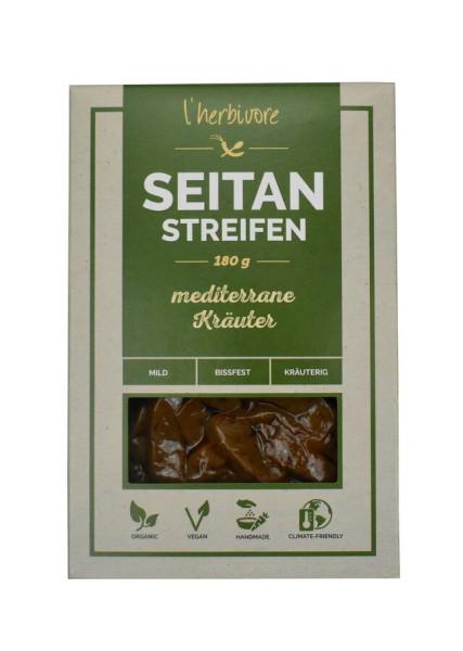 L´herbivore Seitan-Streifen mediterrane Kräuter