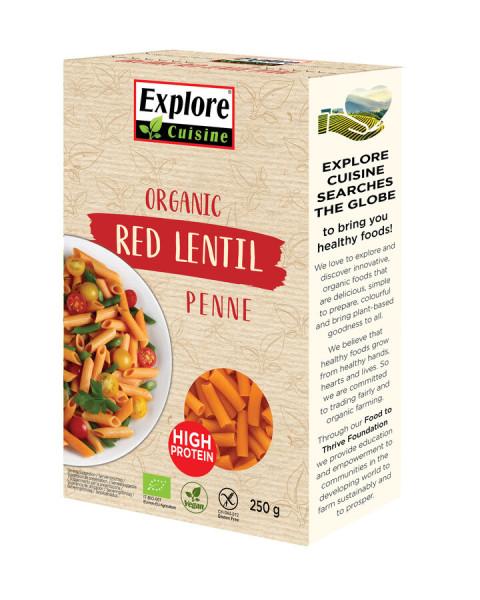 Explore Cuisine Penne aus roten Linsen
