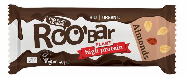 ROO´BAR Roobar Protein Mandel mit Schokoladenüberzug, 40g, glutenfrei