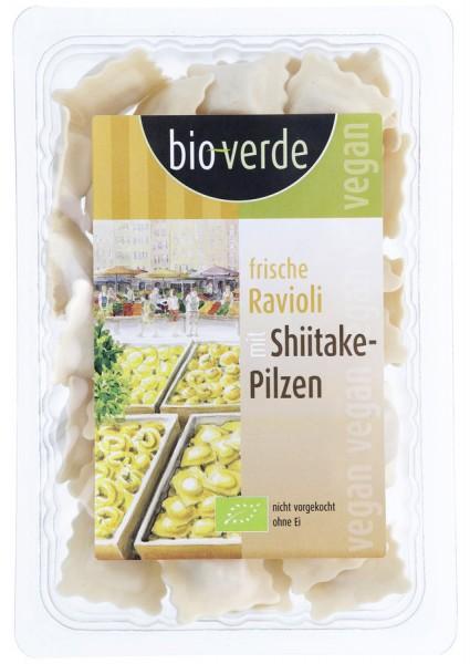 bio-verde Frische Ravioli mit Shiitake-Pilz-Füllung vegan