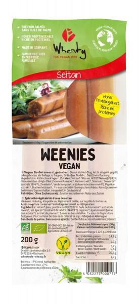 Wheaty Wheaty Weenies Vegan