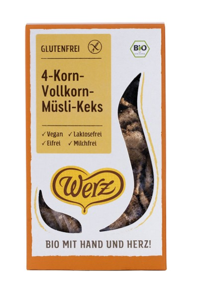 naturkorn mühle Werz 4-Korn-Vollkorn-Müsli-Keks glutenfrei