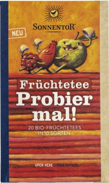 Sonnentor Früchtetee Probier mal!, Doppelkammerbeutel