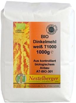 Nestelberger Mühle Dinkel Weißmehl, 1kg