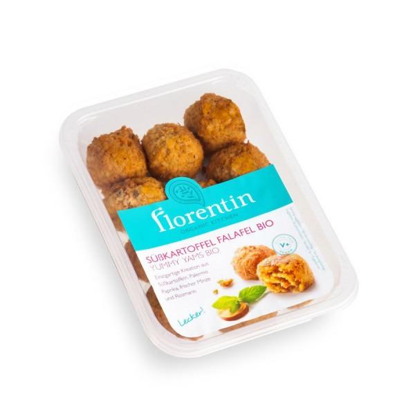 Florentin Frittierte Süßkartoffelbällchen mit Kichererbsen