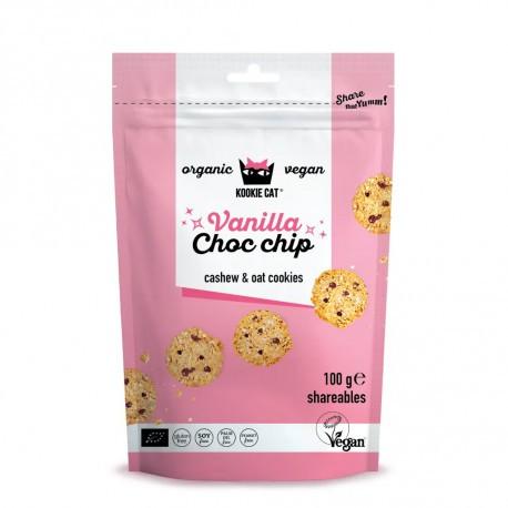 Kookie Cat Vanilla Choco Chip Cookie, 100g