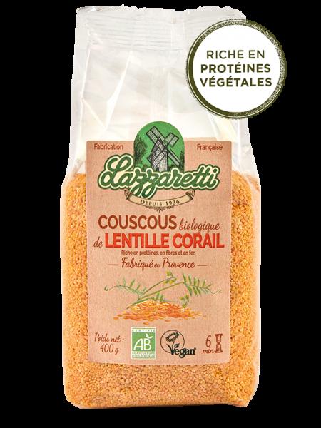 Lazzaretti Couscous Rote Linsen, 400g