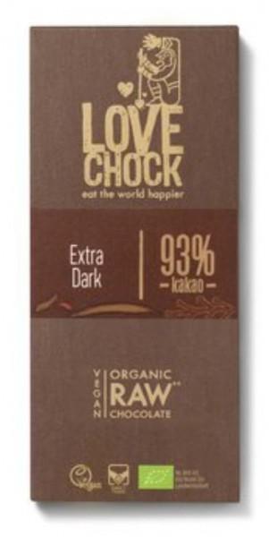 Lovechock Tafel, Extra Dark 93%, 70g