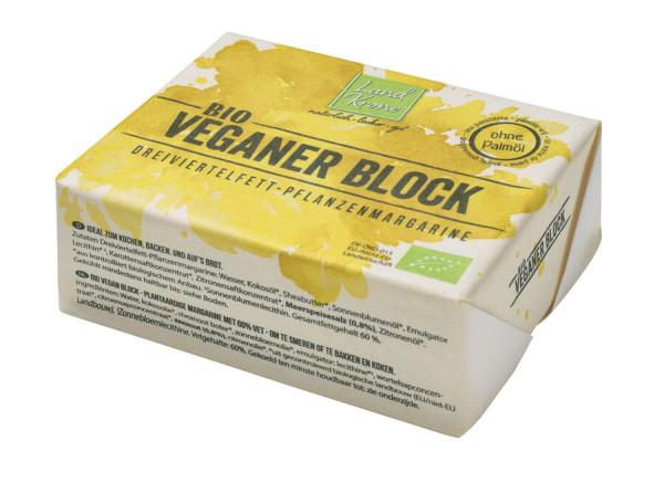 Landkrone Bio Veganer Block - Dreiviertelfett Pflanzenmargarine