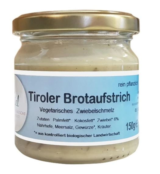 "Hiel Tiroler ""Bratlfett"" veganes BioZwiebelschmalz 150g"