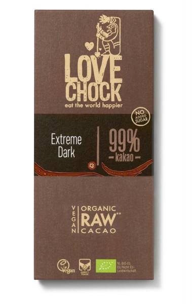 Lovechock Lovechock Tafel 70 g Extreme Dark 99 % Kakao