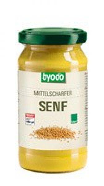Byodo Senf mittelscharf, Glas 200 ml