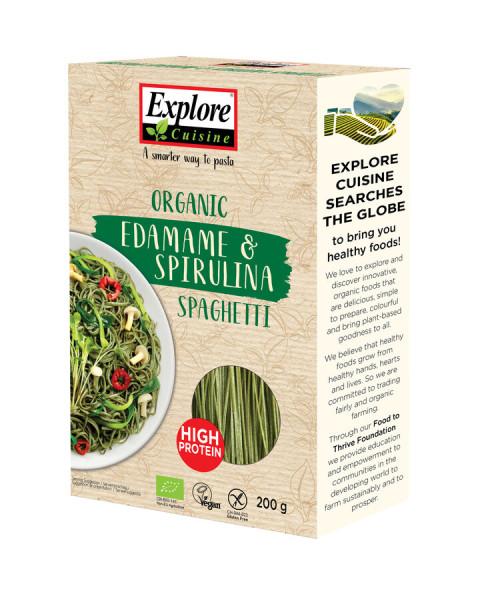 Explore Cuisine Spaghetti aus Edamame & Spirulina