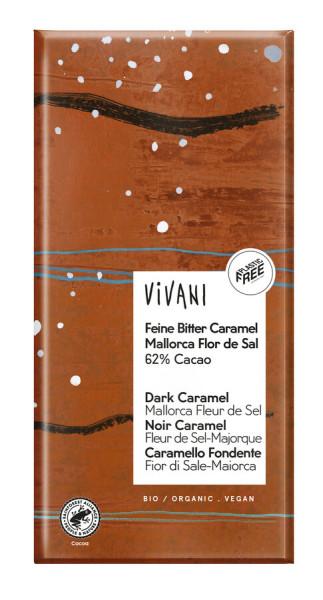 Vivani Feine Bitter Caramel Mallorca Flor de Sal 62% Cacao