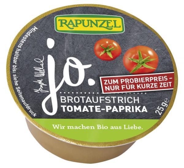 Rapunzel jo. Brotaufstrich Tomate- Paprika, Probiergröße