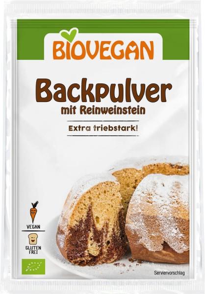 Biovegan Backpulver mit Reinweinstein, BIO