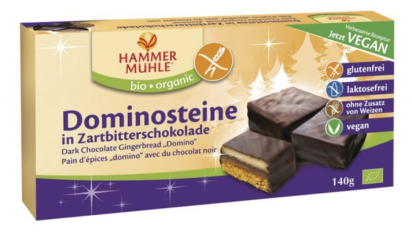 Hammermühle organic  BIO Dominosteine in Zartbitterschokolade glutenfrei