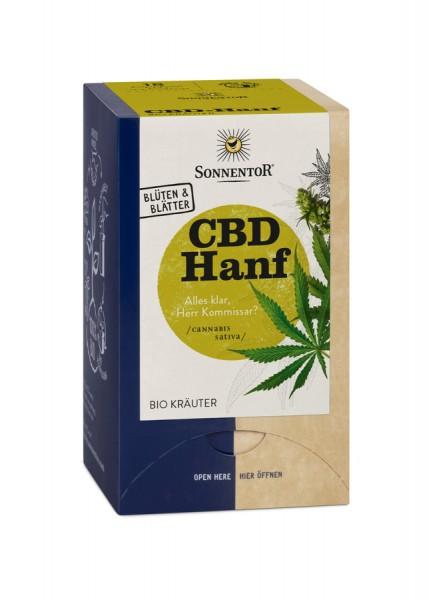 Sonnentor Hanf-CBD Tee, Doppelkammerbeutel