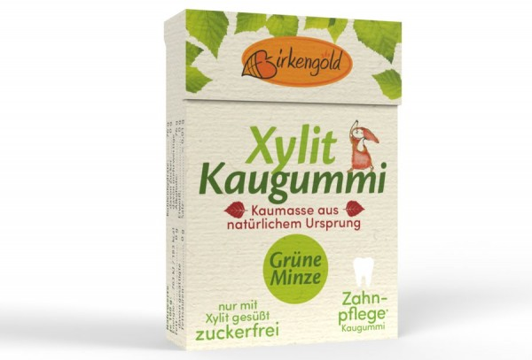 Birkengold Birkengold Kaugummi mit natürlicher Kaumasse Grüne Minze 20 Stk.