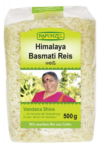 Rapunzel Basmati Reis weiß, Vandana Shiva