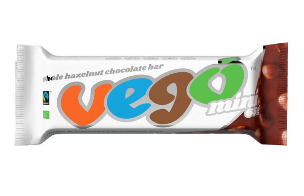 Vego Vego mini 65 g whole hazelnut chocolate bar Bio/FT