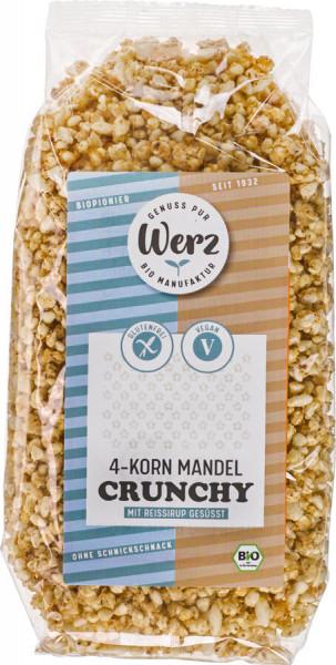 Naturkornmühle Werz 4-Korn Mandel Crunchy, Vollkorn Knuspermüsli, glutenfrei