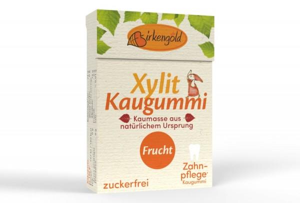 Birkengold Birkengold Kaugummi mit natürlicher Kaumasse Frucht 20 Stk.