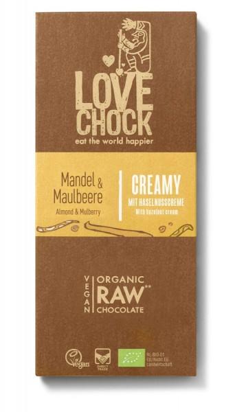 Lovechock Lovechock Tafel Creamy 70 g Mandel/Maulbeere