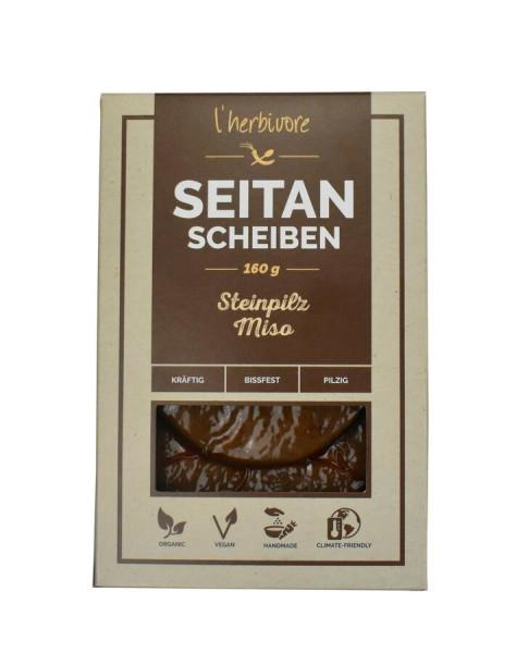 L´herbivore Seitan-Scheiben Steinpilz-Miso