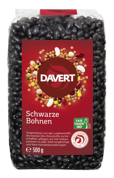 Davert Schwarze Bohnen Fiar Trade IBD 500g