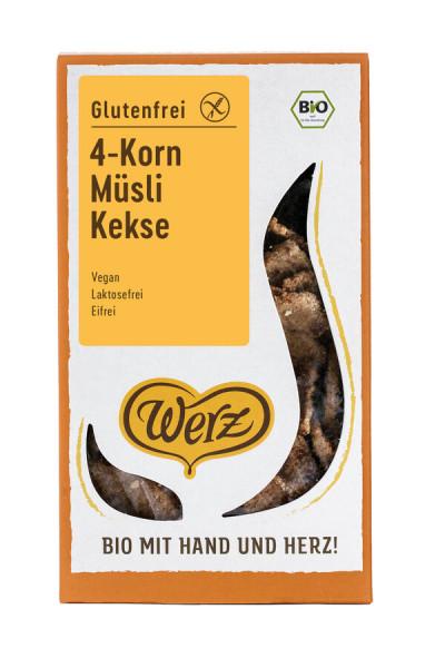 Naturkornmühle Werz 4-Korn Müsli Kekse, Vollkorn, glutenfrei