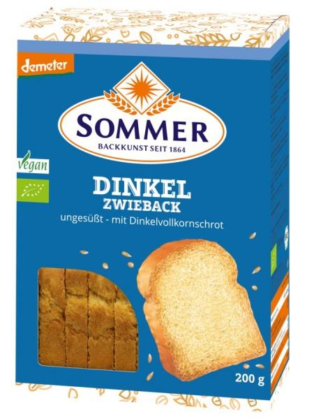 Sommer & Co. Demeter Dinkel-Zwieback, ungesüßt