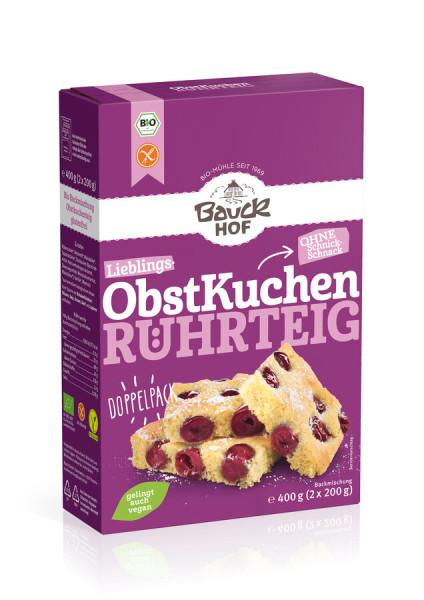 Bauckhof Obstkuchen Rührteig glutenfrei Bio