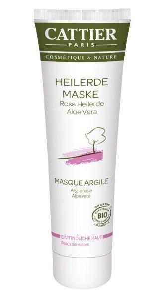 Cattier Cattier Rosa Heilerde Maske für empfindliche Haut