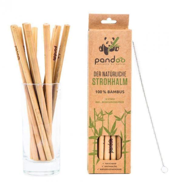 Pandoo Plastikfreie Strohhalme aus Bambus - 100% Naturprodukt